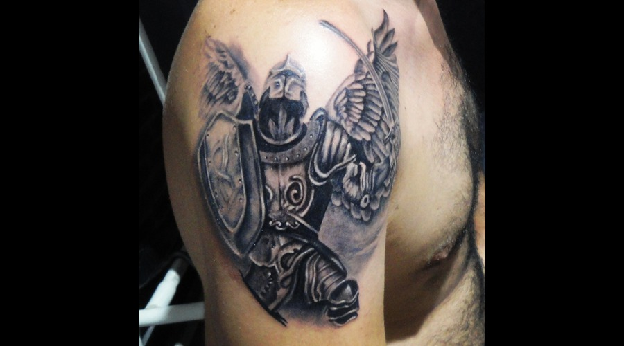 @Tattnroll #Tattoo #Tattoos #Art #Artist #Bodyart #Tattnroll #Angel #Datça  Black Grey Arm