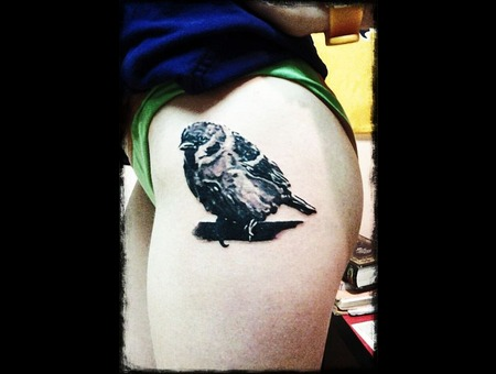 Sparrow Tattoo Thigh