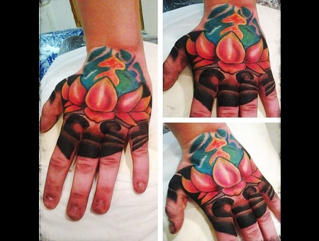 Lotus Tattoo Color Arm
