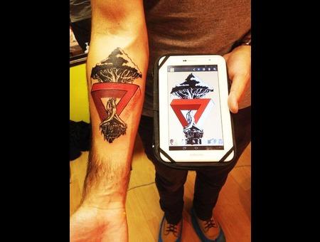 Yggdrasil Tattoo Color Forearm