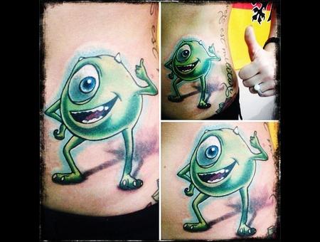 Mike Wazowski Tattoo Ribs
