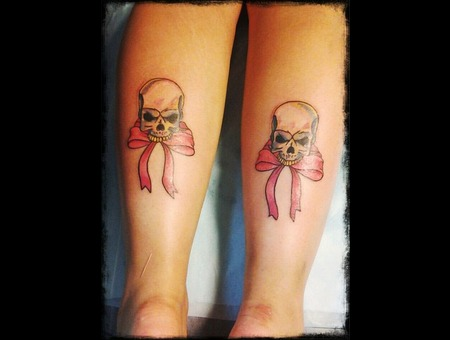 Skull Tattoo Color Lower Leg
