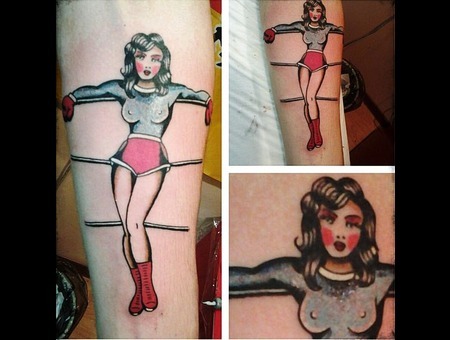 Girl Tattoo Color