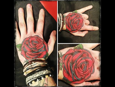 Rose Tattoo Color Arm