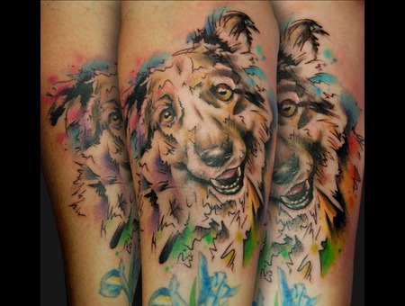 Dog  Watercolour  Abstract  Portrait  Animal  Pet  Color Forearm