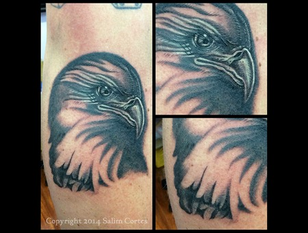Black And Grey  Eagle Tattoo  Realism  Detail Black Grey Arm
