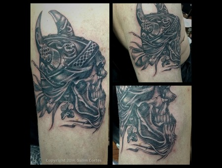 Viking  Helmet  Black And Grey  Detail  Realism Black Grey Arm