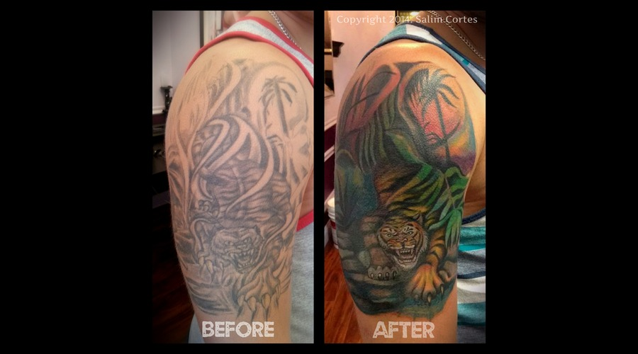 Tattoo Cover Up  Color  Tiger  Nature  Jungle Color Arm