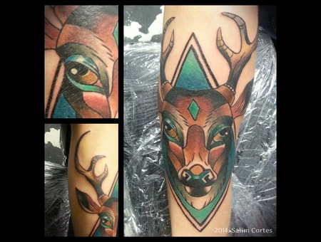 Color  Deer  Neo Traditional   Color Forearm