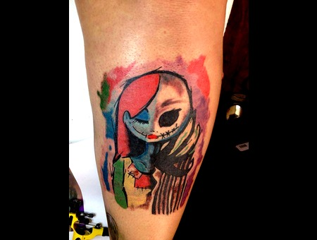 Jack And Sally  Color Work  Water Color Color Lower Leg