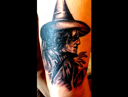 Wizard Of Oz  Witch Black Grey Thigh