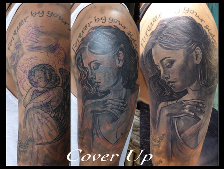 Cover Up Black Grey Arm