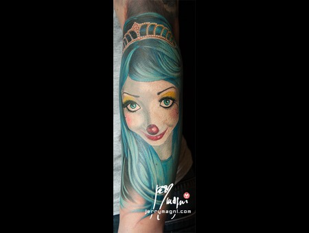 Portrait  Clown  Girl Color Forearm