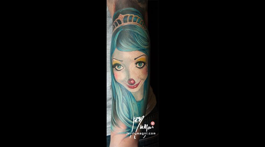 Portrait  Clown  Girl Color Forearm
