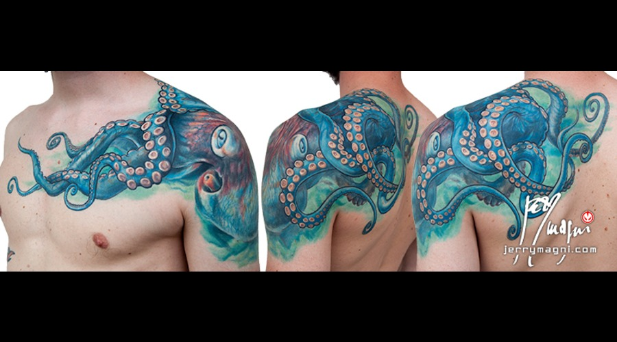Octopus  Chest  Shoulder  Back Color Shoulder