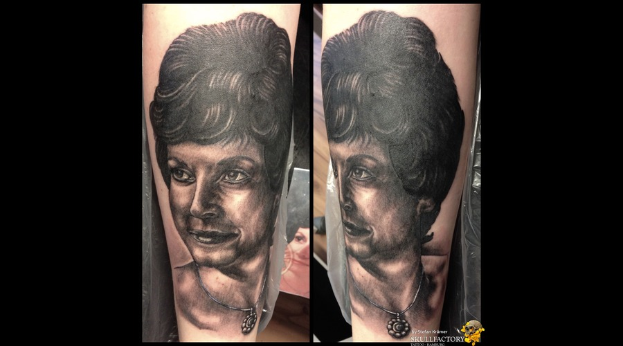 Portrait Black Grey Forearm