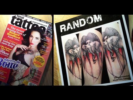 Total Tattoo Magazine  Black Sails  Santa Perpetua Color Thigh
