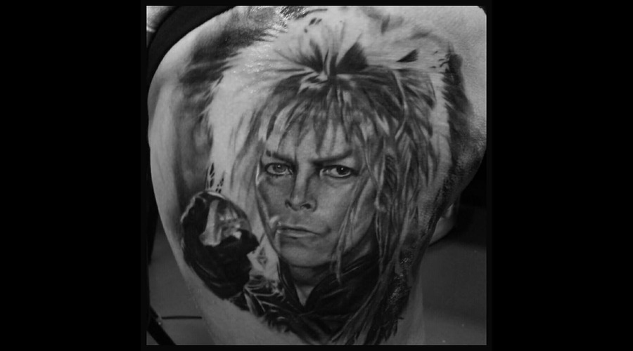 Award Winning David Bowie From The Labyrinth Black Grey