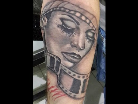 Face Black Grey Forearm
