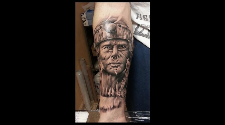 Realistic  Black And Grey  Black Grey Arm