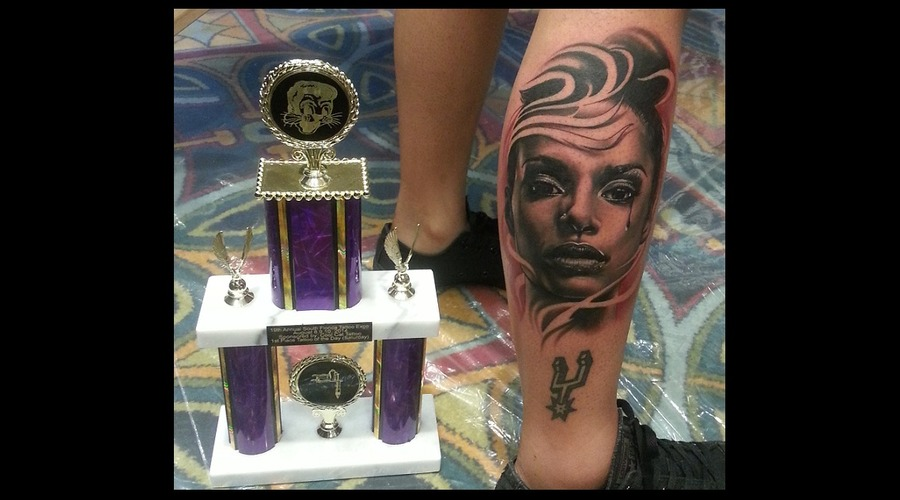 Realistic  Black And Grey Tattoo Of The Day Black Grey Lower Leg