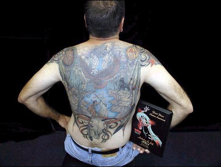 Native American Back Piece  1st Place 2003 Artistry Ink Miami Beach Color Back