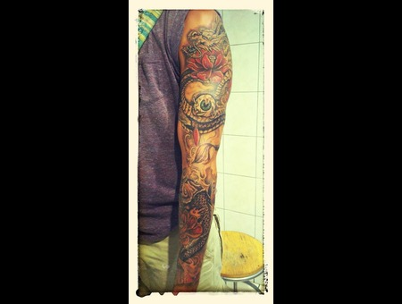 Japanese Sleeve Tattoo#Ledja Qereshniku#Rodos Ink#Rhodos Tattoo# Color Arm