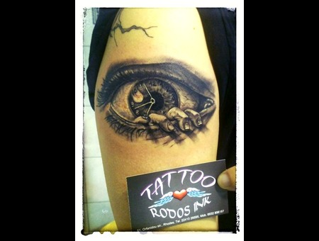 Ledja Qereshniku#Ledja Tattoo Artist#Eye#Evil Eye Tattoo#Rhodos# Black Grey Arm