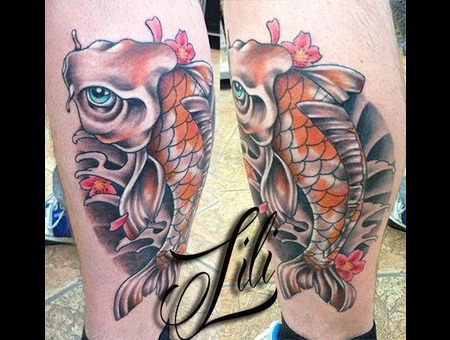 Koi  Fish  Japanese  Calf Lower Leg