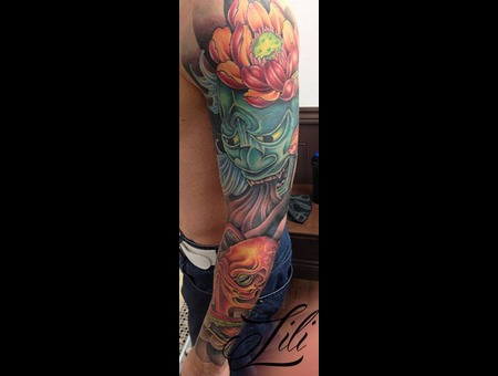 Sleeve  Colour  Japanese  Mask  Octopus Arm