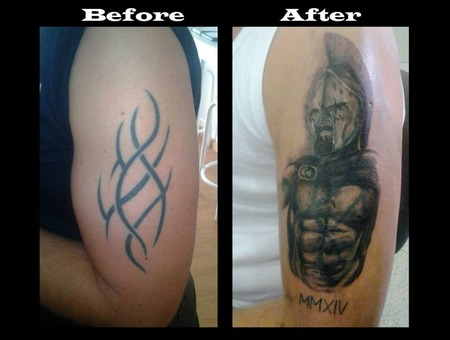 Sparta  300  Coverup  Cover  Warrior  King  Leonidas Arm