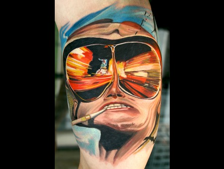 Fear And Loathing Portrait Johnny Depp Color