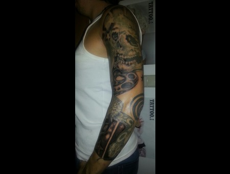 Sleeve  Skull  Snake  Arm