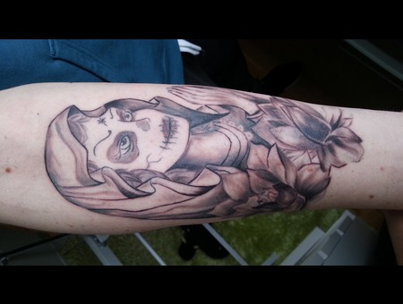 Holy Cathrina  Portrait Forearm