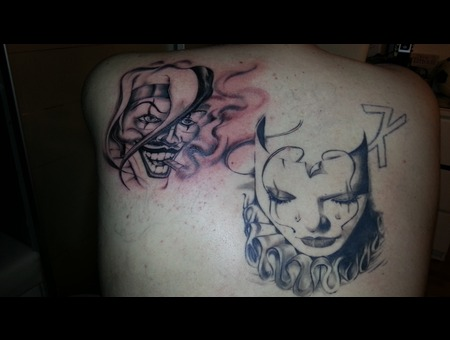 Chicano  Mask  Joker   Shoulder