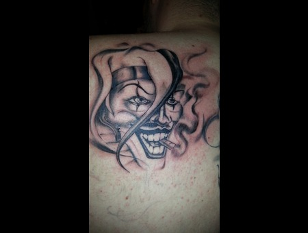 Chicano  Joker Mask Shoulder
