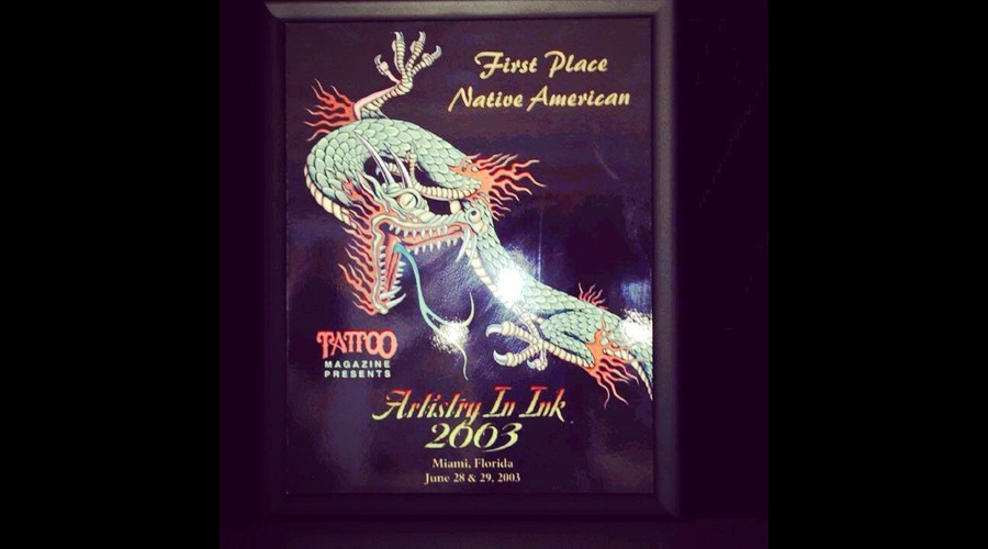 First Place Award Miami Artistry Ink  Year 2003 Native American