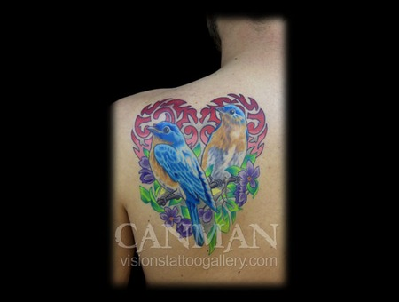 Heart  Birds  Mandala  Flowers Color