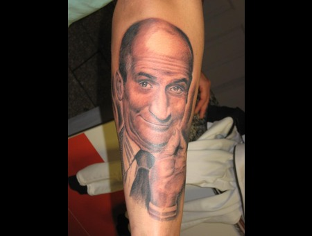 Louis De Funes Portrait Black Grey
