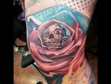 Rose Skull Lower Leg