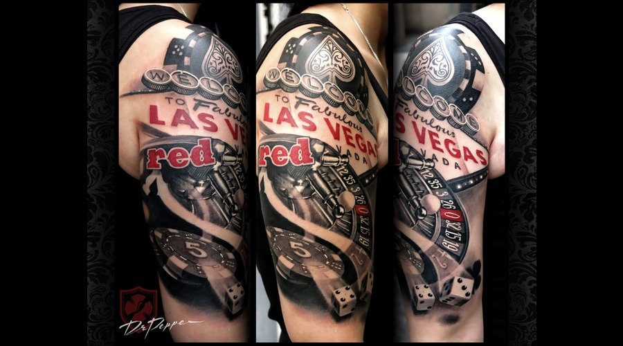 Casino  Las Vegas  Black 'n Grey  Red  Arm