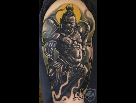 Oriental Warrior  Arm  Realistic Tattoo