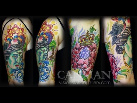 Mandala Crown Cosmos Birds Gem Flower  Color