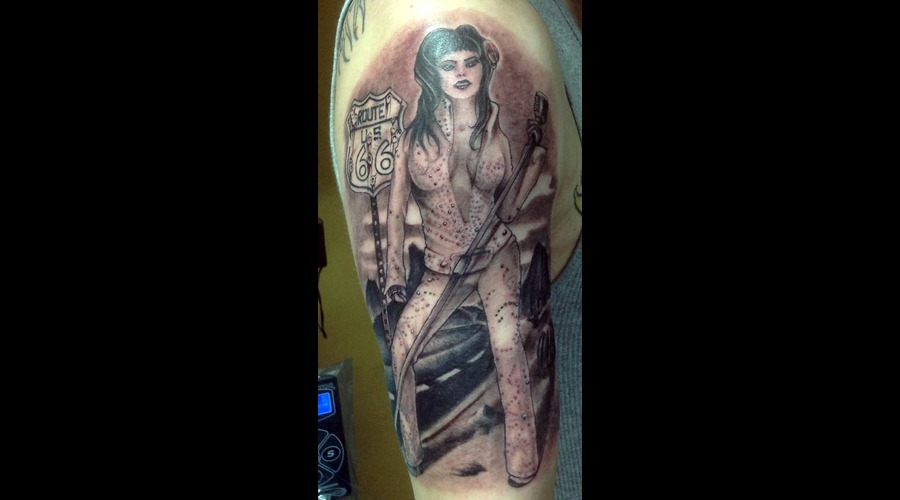 Elvis Pinup Pin Up  Arm