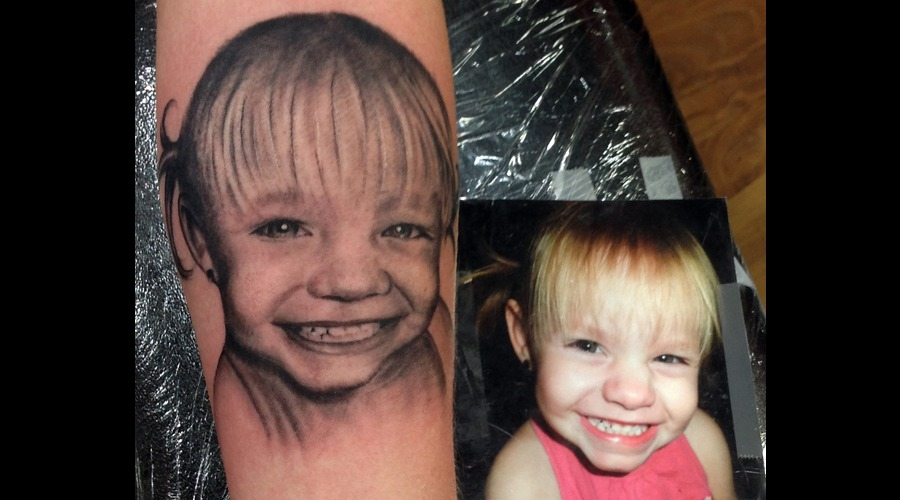 Portrait Eyes Smile Kids Realism Forearm