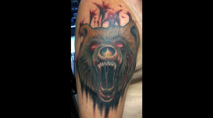 Grizzly Zombie Undead Bear Attack Blood Rabid Arm