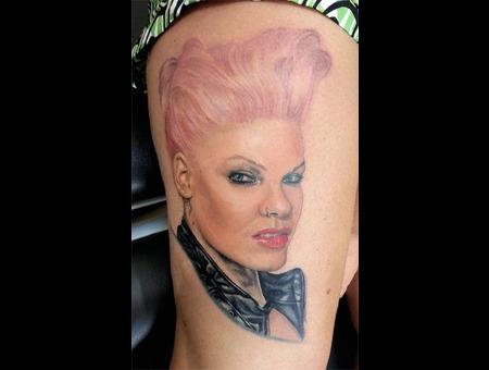 Pink Famous Portrait Thigh