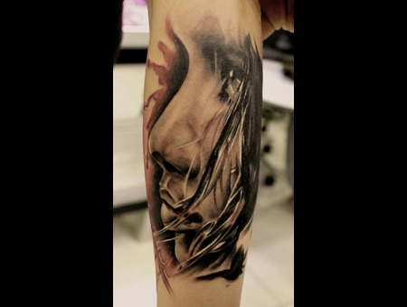 Woman Face  Forearm