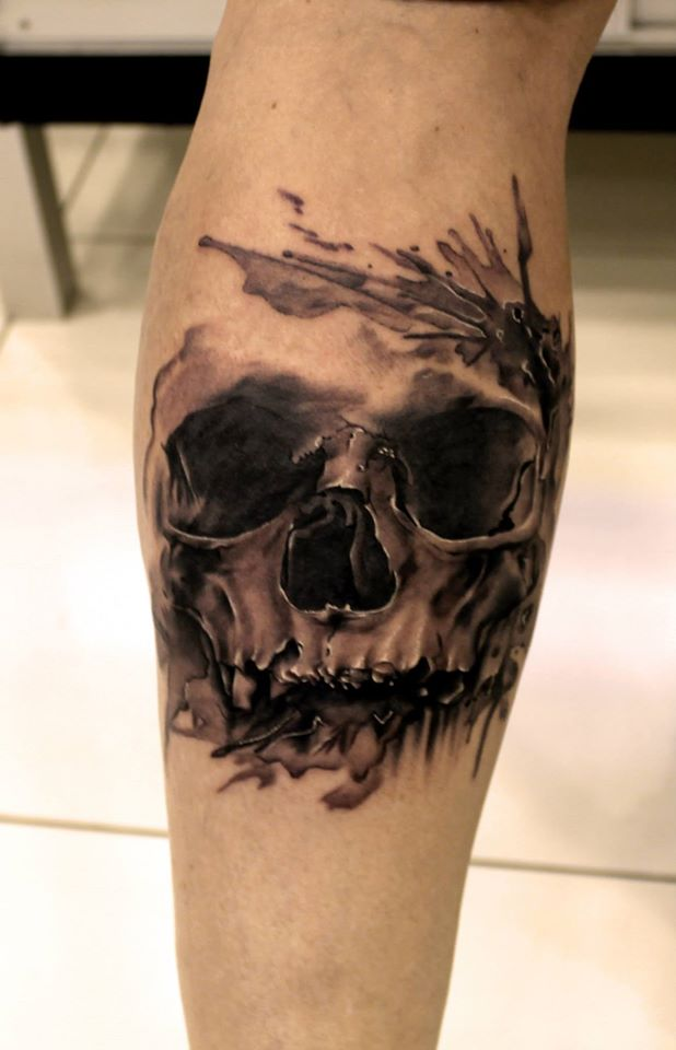 Tahir yildirim certified artist for Color skull tattoos