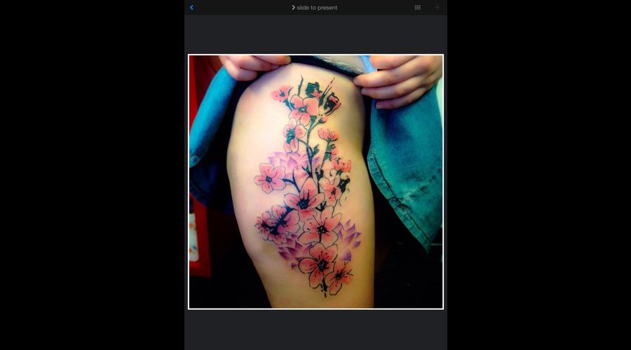 Cherry Blossom Japanese   Flowers  Thigh